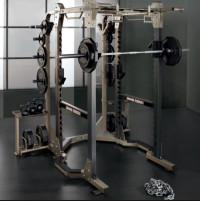 Hammer Strength Half Rack with Spotter Stands- CS