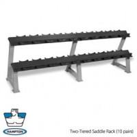 Hampton Fitness 2 Tier Dumbbell Rack-CS