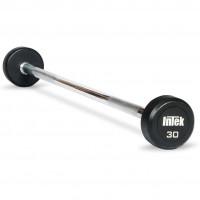 Intek Urethane Fixed Straight Barbells 20-80 lbs - CS