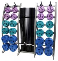 TKO Cardio Pump Barbell Set w/ Plates + Foam Gripped Barbell
